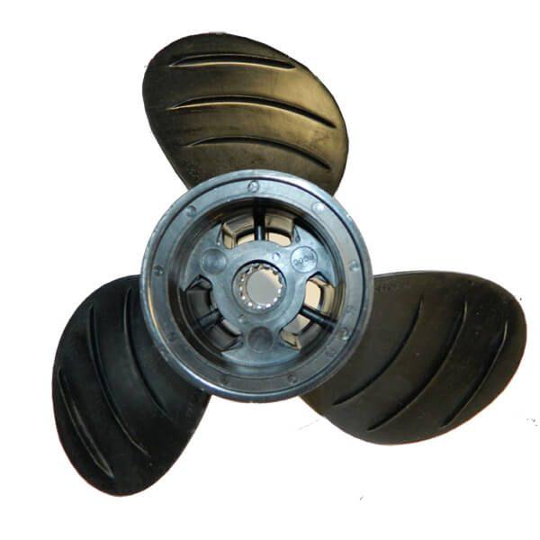 "Piranha Composite 3-Blade Propeller System -10D x 10.5P - RH Rotation - Size D - 2.75"" Gearcase"
